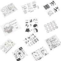 11Styles Silicone Clear Transparent Stamp Seal Card Scrapbooking Craft DIY w