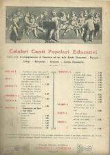 Canti Educativi Scolastici di Luigi Bottazzo Spartito - Canto e Pianoforte 1910