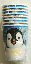 HAPPY FEET     8-PAPER CUPS 9oz.   PARTY SUPPLIES