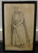 antike original Bleistiftzeichnung Johann Heinrich Menken Bremen (1766-1839)
