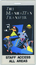 MANHATTAN TRANSFER 1987 TOUR LAMINATED BACKSTAGE PASS
