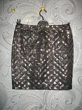 NEW + TAGS * MORGAN * BLACK ALL SEQUINNED LINED PENCIL MINI SKIRT SIZE 8 RRP £55