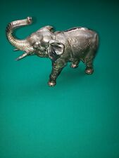 Antique Jennings Brothers Silver Plated Elephant
