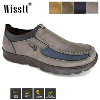 Mens Office Leather Casual Driving Loafers Moccasin Comfy Flats Work Shoes Sizes