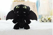 12''Dragon Toothless Night Fury Animal Plush Stuffed Doll kid favor Xmas toy B86