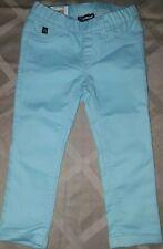 Jordache Little Girls Jeggings Jeans Pants Crop XS 4-5 Teal Blue Elastic Waist