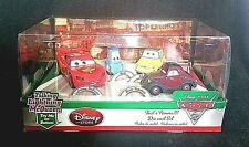 2017 Mattel Disney Pixar Cars 2 Four 4  Diecast Set #3094 W Mc Queen Guido Luigi