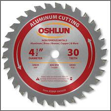 "OSHLUN SBNF-045030   4-1/2"" x 30T Aluminum Cutting Saw Blade 3/8"" Arbor"