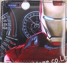 Iron Man Leather Square Wallet Purse Custom Cosplay Accessory Unisex Props