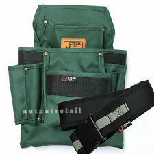 A WORK BELT + Nylon Canvas Electrician Carpenter Tool Pouch Bag Nail Holder