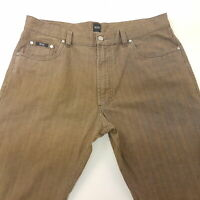 HUGO BOSS MONTANA Mens Vintage Trousers Pants Jeans W37 L33 Brown Regular High