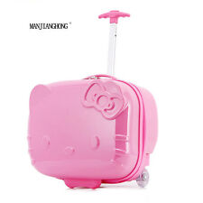 Hello Kitty Pink Rolling Travel Box Suitcase Luggage Trolley Bag Women Girls
