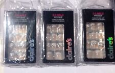 3 Boxes of Claire's 3D Nails w Bows & Bling with Glue - 24 nails each 72 total