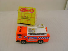1991 MATCHBOX SUPERFAST MB57 57 MACK AUXILIARY POWER TRUCK FIRE UNIT NEW IN BOX