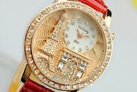 Brand Gogoey Women rhinestone watches Luxury Crystal The Eiffel Tower Watch
