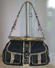 PRADA Handbag Python Trim Frame Bag -100% AUTENTICO