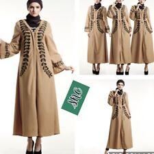 New Muslim Women Modest Maxi Dress Abaya Turkey Stripe Long Robe Kaftan Clothes
