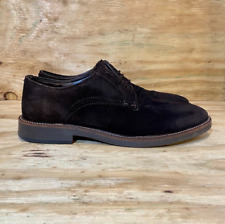 Zara Man Dark Brown Suede Oxford Shoes Men's Size 9