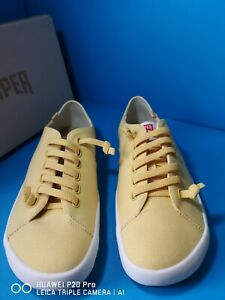 Camper  Peu Rambla Mens Lace Up Yellow Canvas Trainers Shoes Size UK 8 eur 41