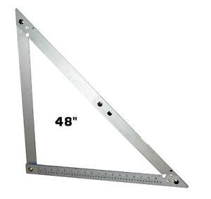 """NEW Folding Square 48"""" Aluminium Ruler Angle Flooring Builders DIY Tool"""