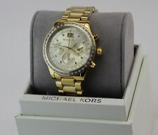 6b217f48c28f Nuevo Auténtico Brinkley Oro Cronógrafo Michael Kors Reloj de mujer MK6187