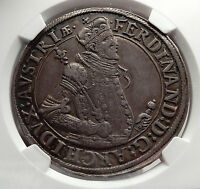 1564-1595AD ARCHDUKE Ferdinand II Silver Taler of Austria Large Coin NGC i58183