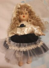 Porcelain Figure dressed Dolls House People Child Dolly 17 cm jointed