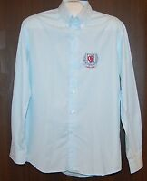 IL Granchio Men's Blue White Striped Cotton Shirt Size L New