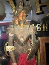 Antique 19th C  Sicilian  Carved Doll Marionette Mannequin ROD Puppet Full Armor