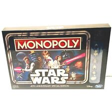 Monopoly Board Game Star Wars 40th Anniversary Special Edition ~ NEW