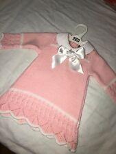 Pex Spanish Baby Girl Pink And White Bow Dress 3-6m, 6-9m