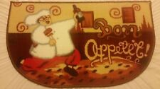 """PRINTED NYLON FAT CHEF RUG (nonskid back) (18"""" x 30""""), BON Appetit by RJ,rounded"""