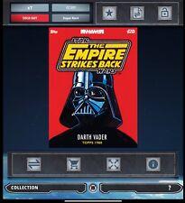 SWCT Star Wars Card Trader DARTH VADER ABRAMS PACK ART BOOK REDEMPTION redeem