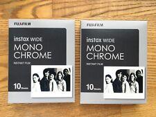 NEW! Fujifilm Instax Monochrome Film (20 Shots) for 210, 300, 500AF, lomo