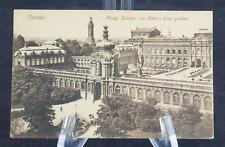 Postcard  Dresren Koenigl Zwinger Von Webers Hotel Gesehen Germany BW*