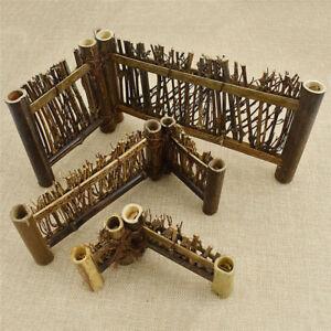 Japanese Bonsai MINI Small Garden Fence Panels Purple Bamboo Accessorie 10X6cm