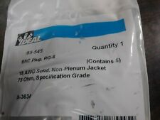 IDEAL 85-545 BNC CONNECTOR RG-6 COAXIAL COMPRESSION BAG OF 5 NEW IN PACKAGE