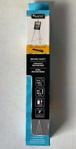 "Quartet 29E Instant Portable Folding Easel 63"" Adjustable Height Black Aluminum"