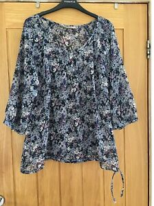 Ladies Top/Blouse. Size 16. Marks And Spencer Indigo. New No Tags