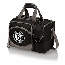 NEW NBA Brooklyn Nets Insulated Shoulder Pack with Deluxe Picnic Service