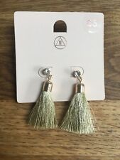 Brand New With Packet Missguided Gold Tassle Earrings