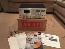 1970s Vintage Retro Akai CS-702D Cassette Tape Player Original Box And Manual