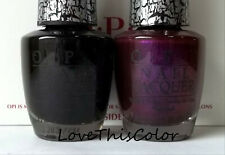 2 Sp Opi Nail Lacquer - Black Shatter & Purple Super Bass Shatter - Crackle Lot