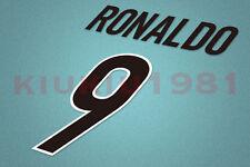 Inter Milan Ronaldo #9 1998-1999 Awaykit Nameset Printing