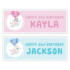 PERSONALISED BABY ELEPHANT BIRTHDAY NAME BANNER CLEBRATION WALL DECO KIDS
