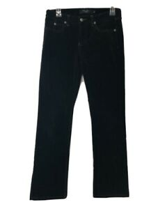 Billy Blues Womens Black Corduroy Straight Leg Jeans Size 4