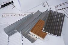 LINEA Musterset für flächenbündige Sockel Leisten, bündige Fussleisten Profil