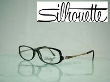 Silhouette SPX 1989 60 6050 LIGHT WEIGHT BLACK Frames Eyeglasses Size 52