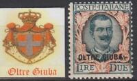 ITALY OLTRE GIUBA Sassone n.13 cv 430$  MNH**