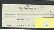 wbc. - CHEQUE - CH92- UNUSED -1970's - BANK of SCOTLAND,THREADNEEDLE St + c'foil